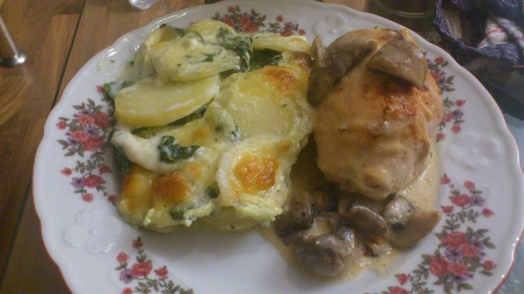 Hähnchen Rouladen spinat frischkäse 2